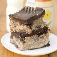 Brownie Cheesecake with Chocolate Ganache