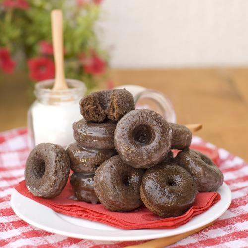 Lemon Glazed Chocolate Donuts