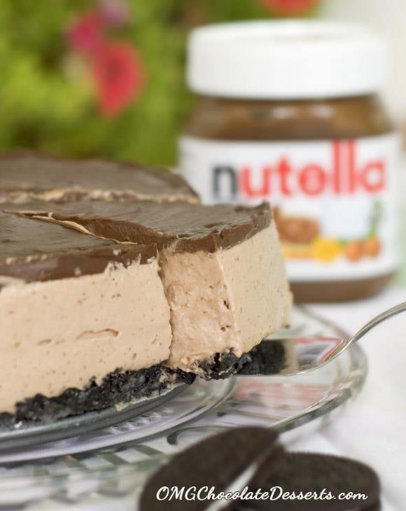 No Bake Nutella Cheesecake - Chocolate Dessert Recipes - OMG Chocolate ...