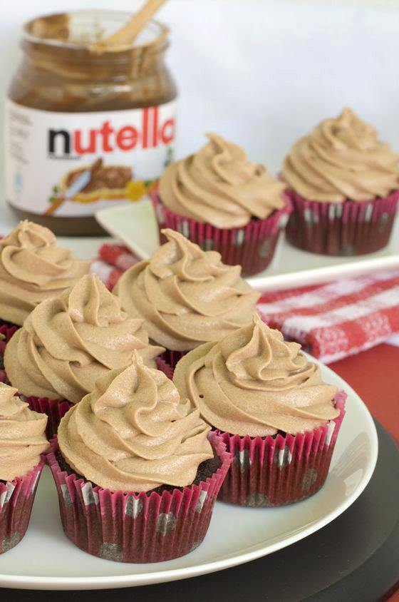 Nutella Chocolate Cupcakes