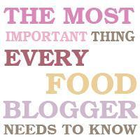 The most importing thing every food blogger needs to know!
