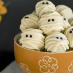 Image of white chocolate mummy truffles