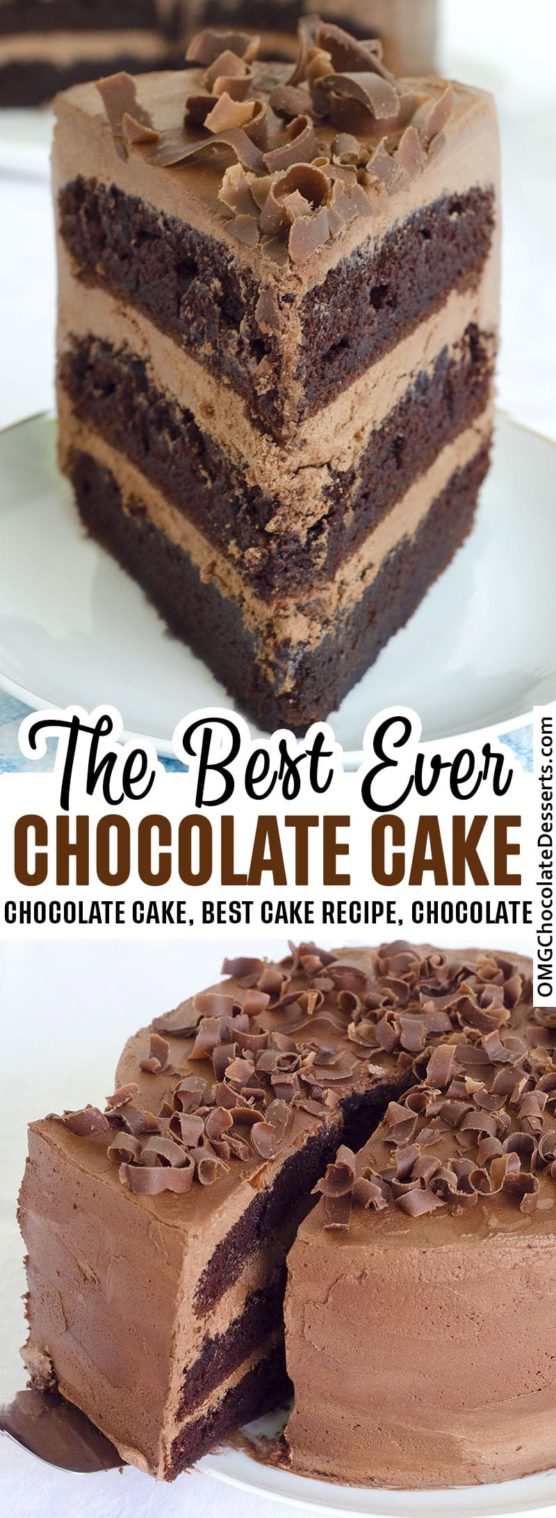 Two chocolate cake images.