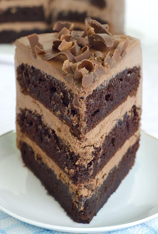 Piece of perfect Hershey cake.