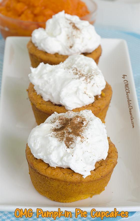 Pumpkin Pie Cupcakes Pinterest Omg pumpkin pie cupcakes - chocolate ...