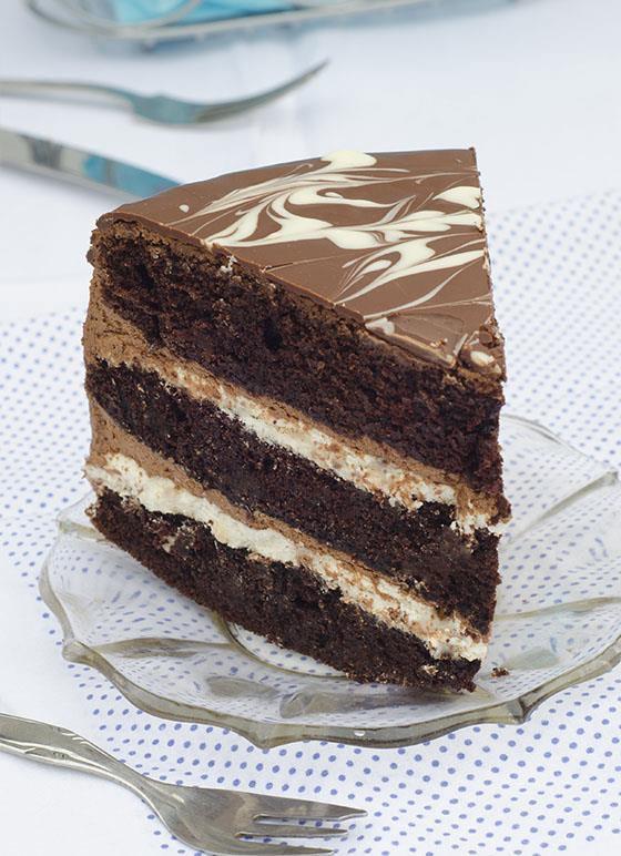 Tuxedo Cake piece
