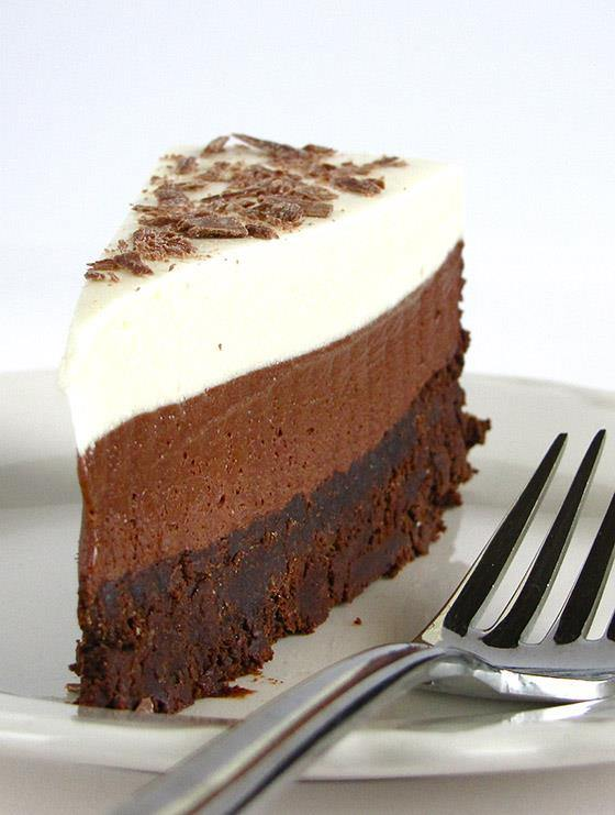 Chocolate Mousse Cake - Chocolate Dessert Recipes - OMG Chocolate ...