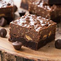 Krispie Peanut Butter Cup Brownies