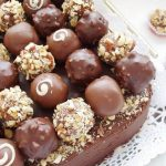 Pan of truffle cake