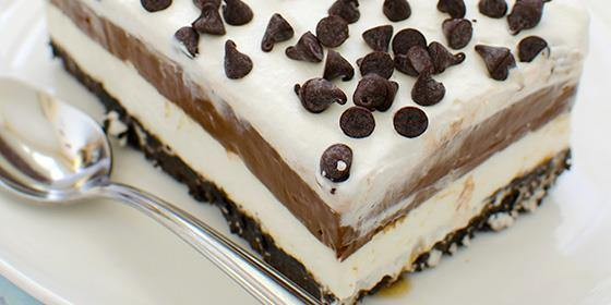 Which chocolate desserts would you take with you to a desert island? My first choice is Chocolate Lasagna!