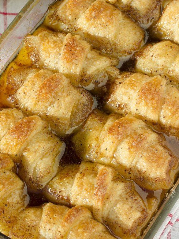 Apple Dumplings in the pan.