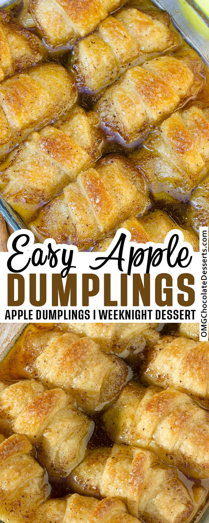 Two different Apple Dumplings images with title deside.