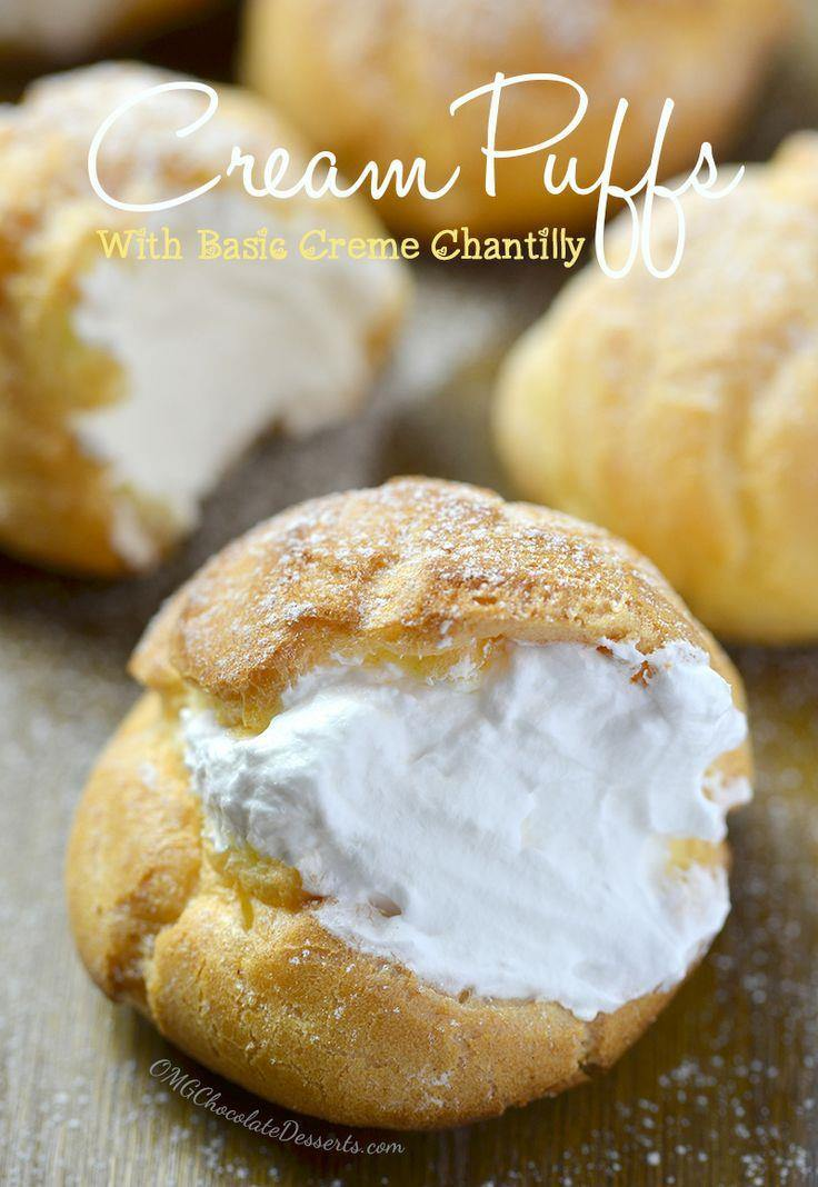 Cream Puffs with Basic Cream Chantilly - Chocolate Dessert Recipes ...