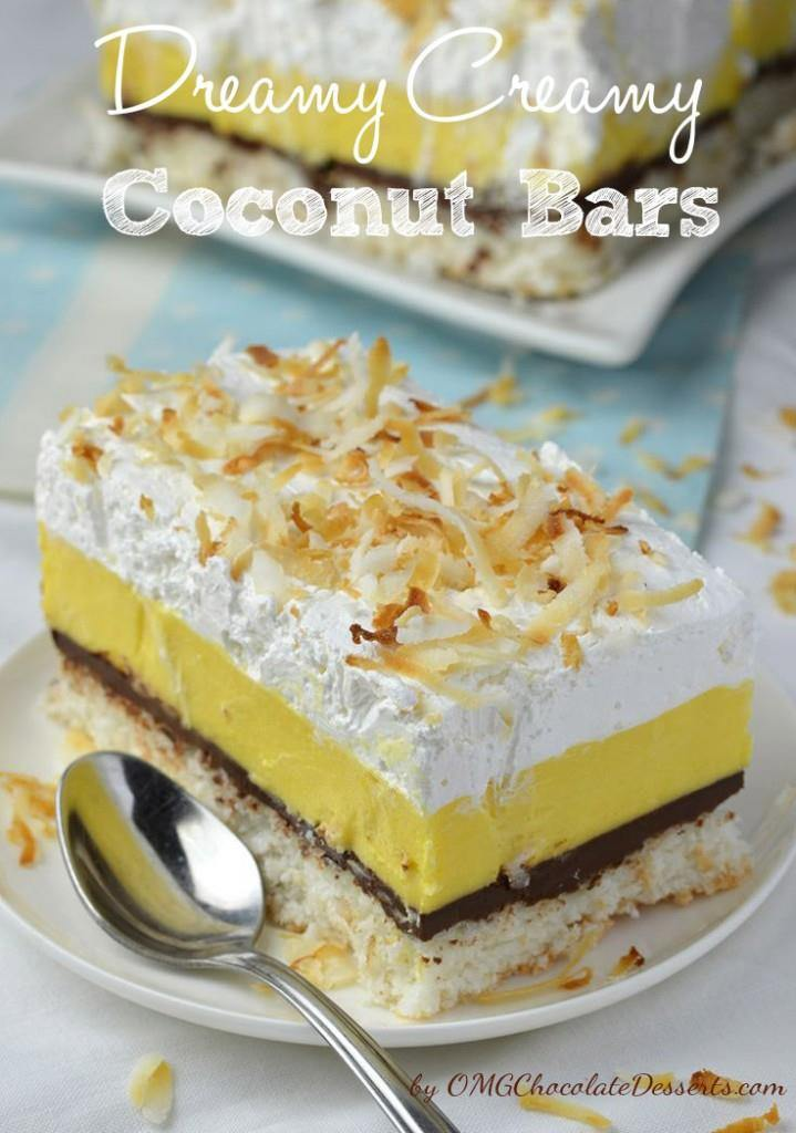 Dreamy Creamy Coconut Bars