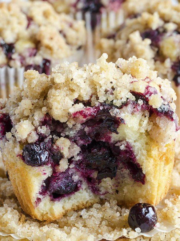 Bitten Blueberry Muffins