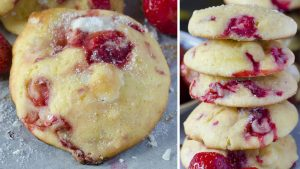 Stuffed cookies never looked more angelic than these Strawberry Cream Cheese Cookies
