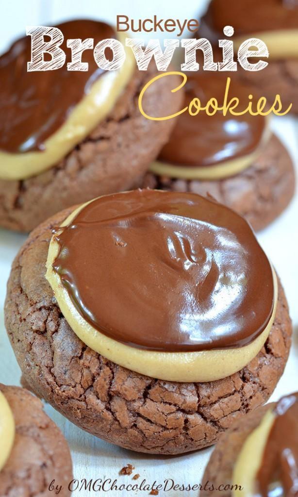 Buckey Brownie  Cookies