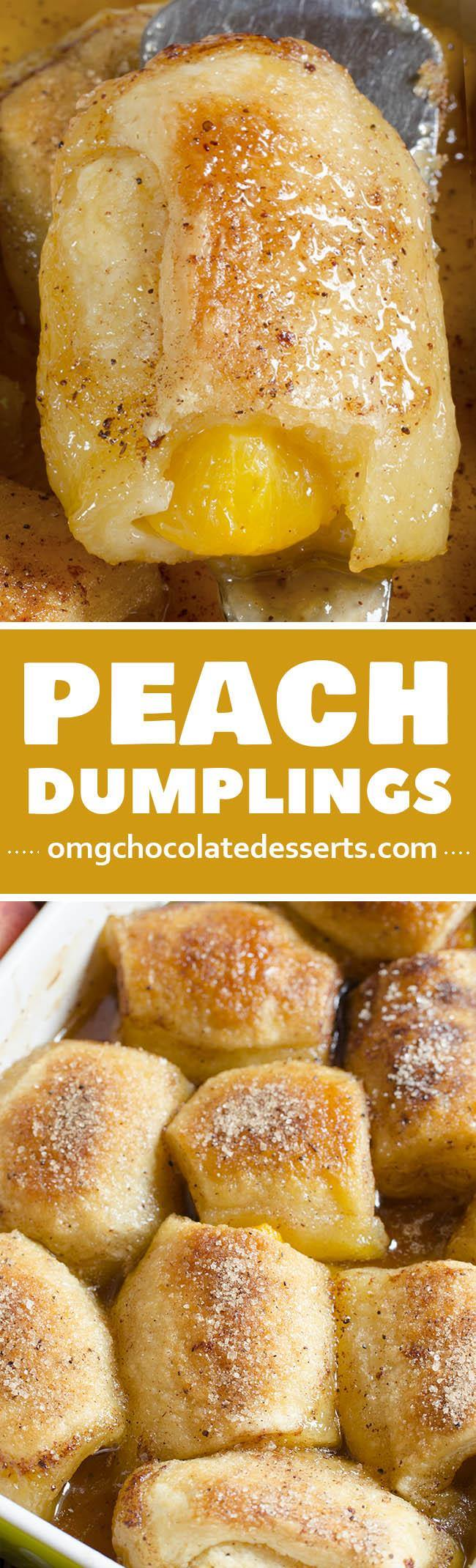 This Crescent Roll Peach Dumplings recipe is one of the Southern food dessert recipes. This is a great way to get a delicious, homemade dessert in less then 1 hour.