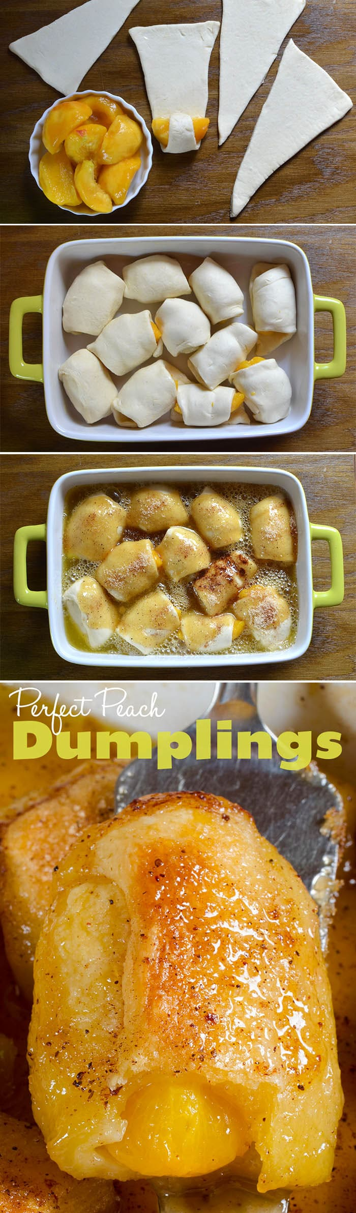 Just peachy! A dumpling dessert you can serve at any occasion. Peach dumplings - amazing Southern food dessert recipes
