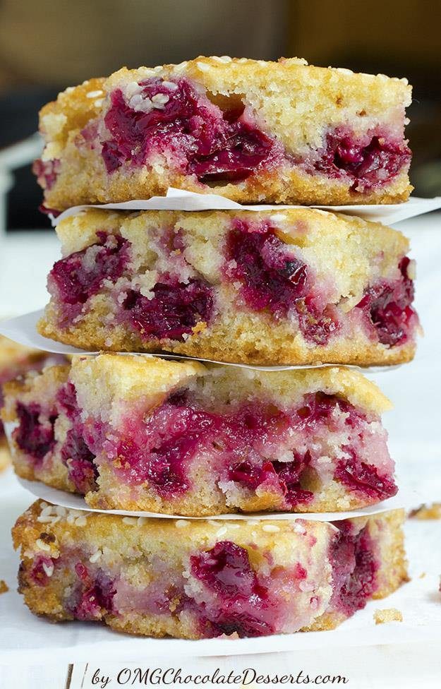 Sesame Cherry Bars
