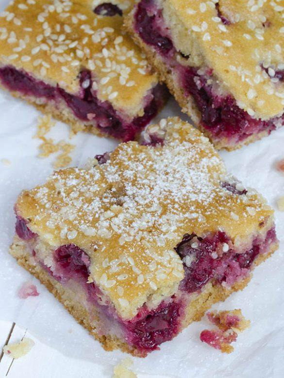 Image of some cherry bar squares