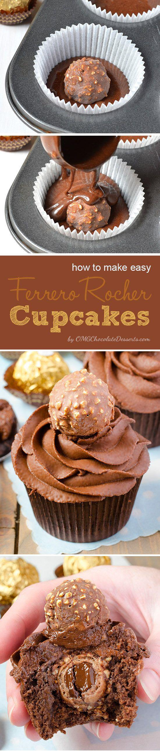 Before you find the instructions , what you will find is the ultimateguide how to keep at least half of these beautiful Ferrero Rocher Cupcakes from potential attacks during their preparation :)