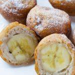 Banana Fritters on white plate