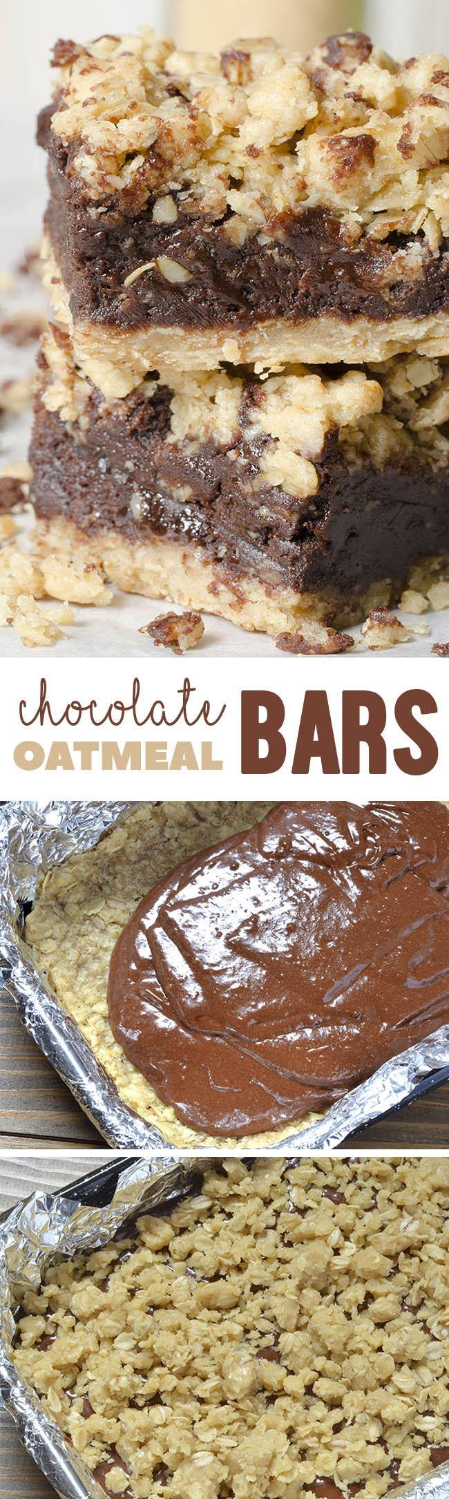 This rich chocolate oatmeal bars recipe is an real keeper recipe. Three layers of chocolatey goodness make these revel bars undeniably delicious. Cut in slices and grab for an on-the-go snack.
