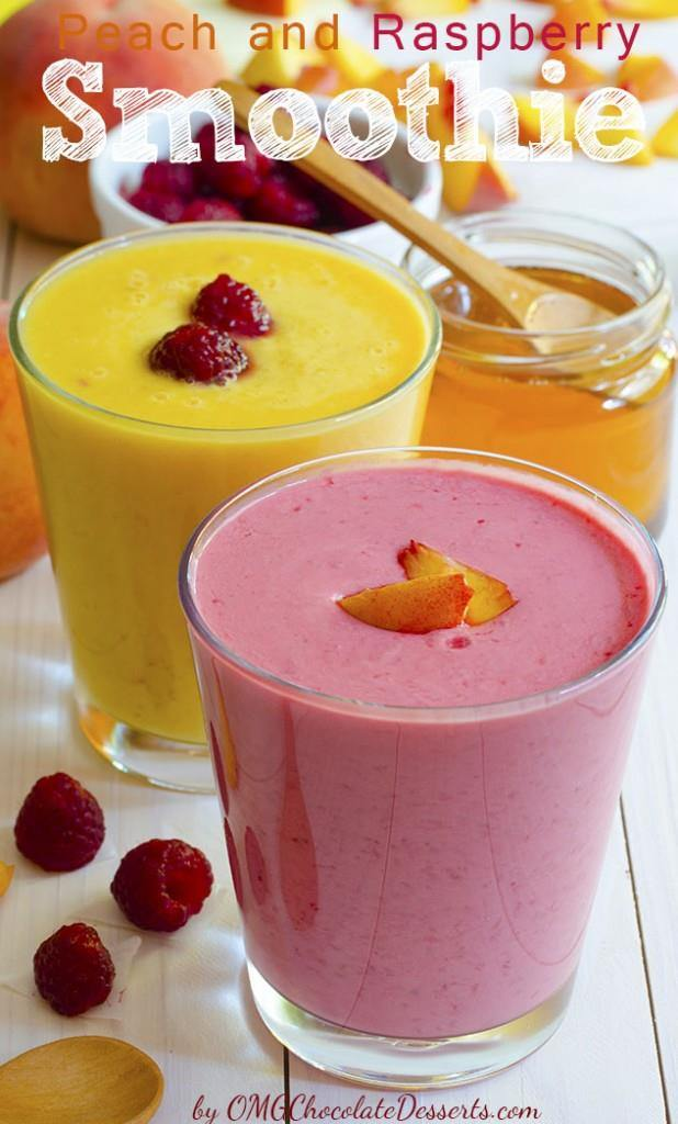 Peach and Raspberry Smoothie
