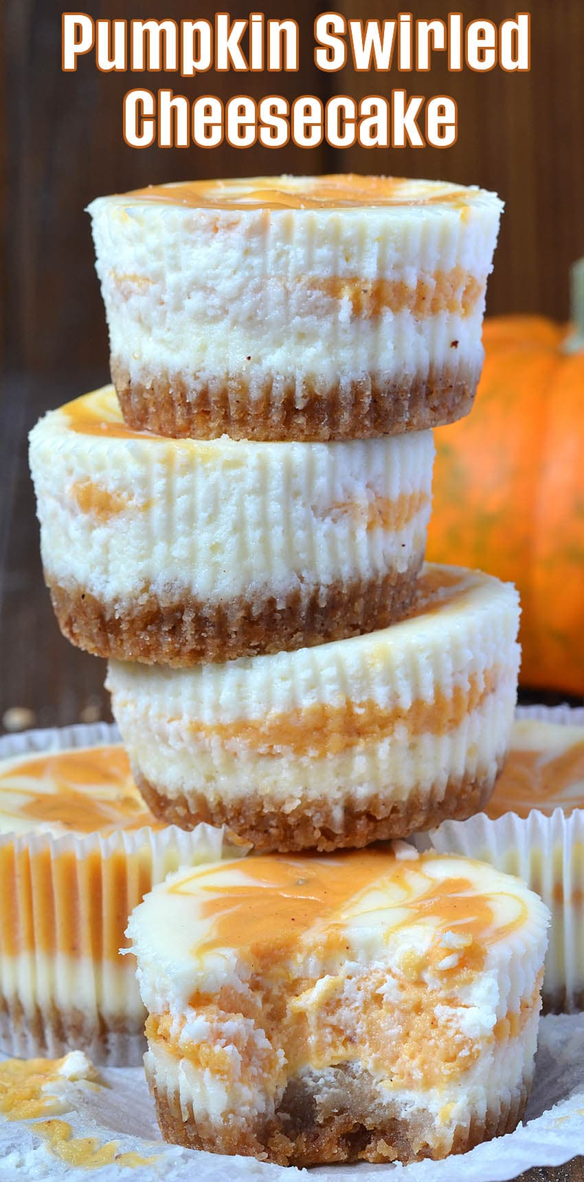 Pumpkin Swirled Cheesecake