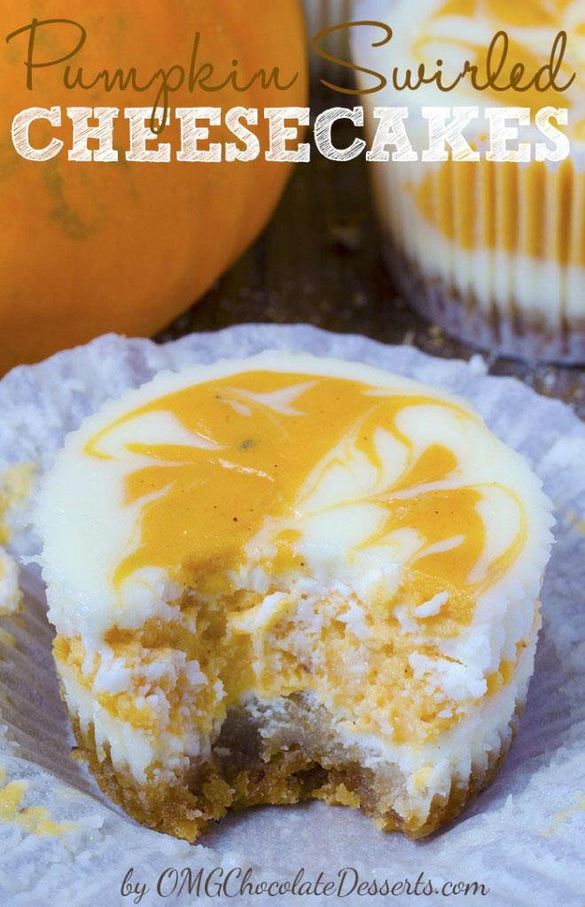 I always adore sweet cheesecake bites but with pumpkin I got more then I expect! Must try these Pumpkin Swirled Cheesecake. #pumpkin #cheesecake