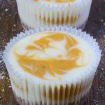 Two Pumpkin Swirled Cheesecakes