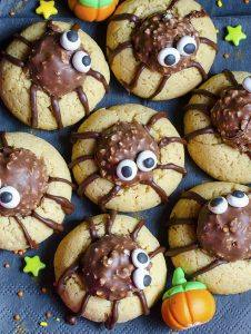 Bunch of chocolate spider sugar cookies