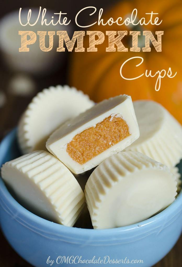 White Chocolate Pumpkin Cups Omg Chocolate Desserts