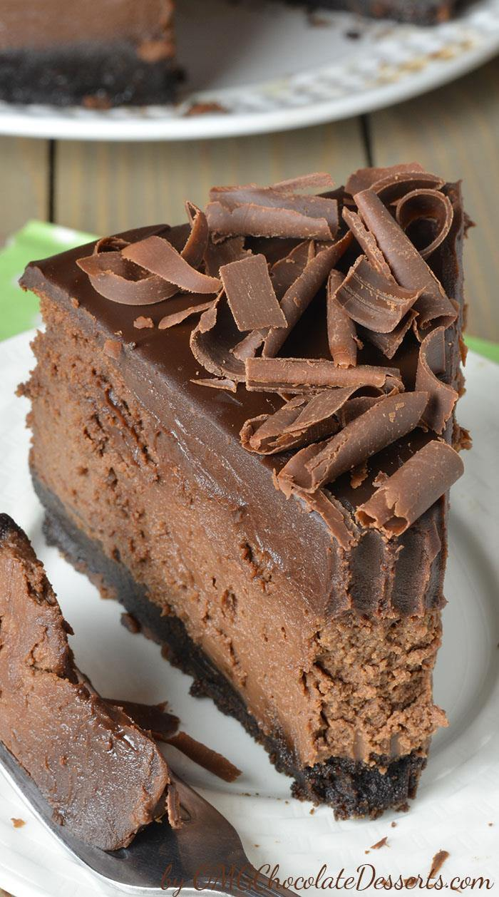 Triple Chocolate Cheesecake with Oreo Crust - OMG ...