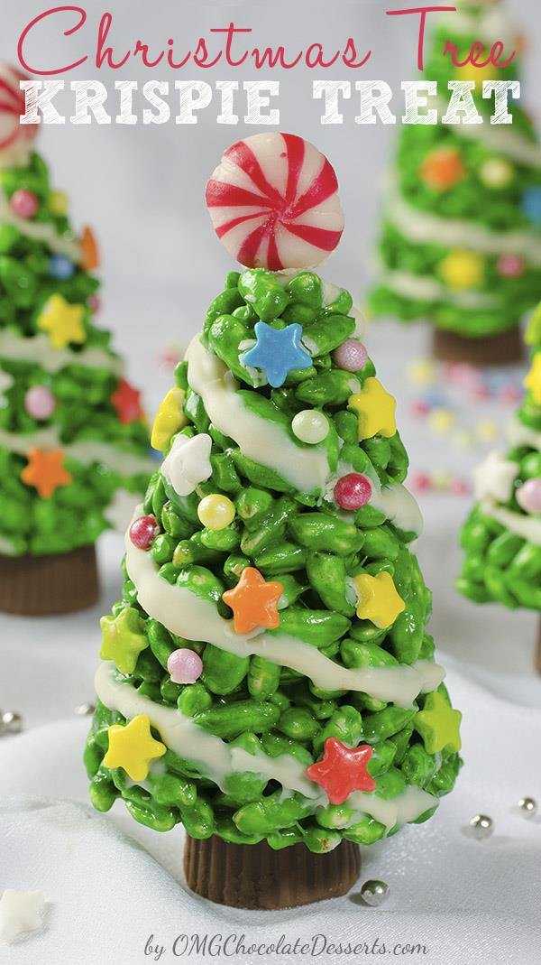 Rice Crispy Treat Christmas.Christmas Tree Krispie Treats Easy Christmas Dessert