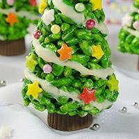 Christmas Tree Krispie Treat