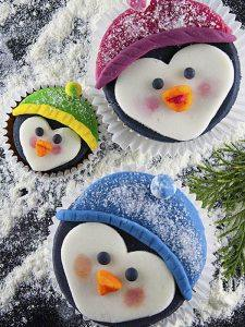 Penguine Family Cupcakes
