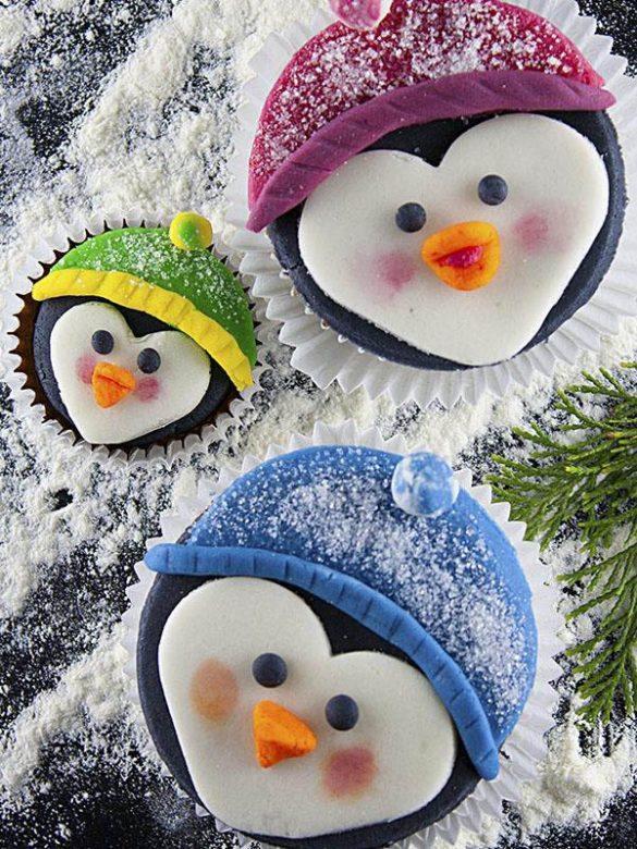 Penguine Family Cupcakes