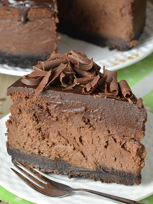 Triple Chocolate Cheesecake With Oreo Crust