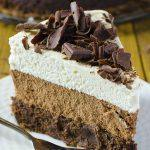 Photo of a Slice of Triple chocolate mouse cake