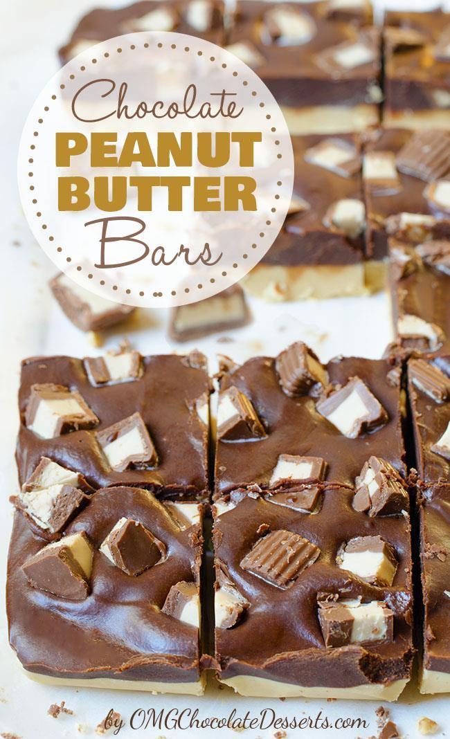 No-bake, no muss, no fuss - chocolate peanut butter bars recipe !