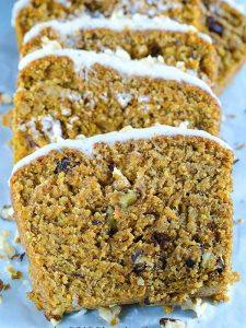 Sliced Carrot Cake banana Bread