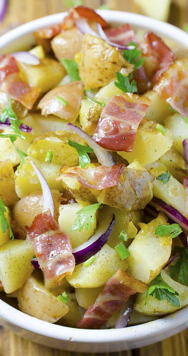 If you are thinking about something ideal to go with your BBQ, fried chicken or hamburgers, German Potato Salad is something just perfect to think about.