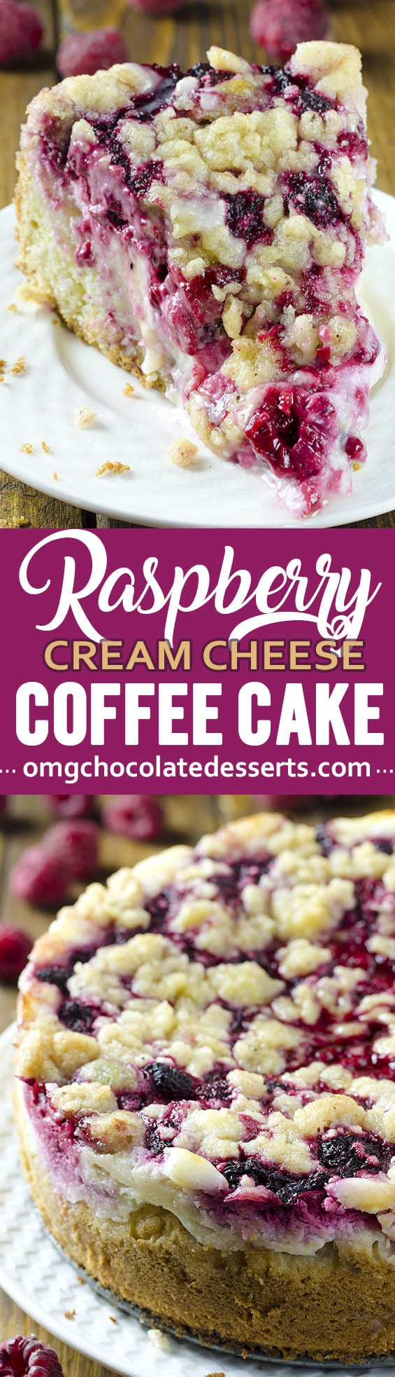 This Raspberry Cream Cheese Coffee Cake is the only coffee cake recipe you'll ever need. It is a delicious way to sneak a little fruit into everyone's favorite brunch. SO easy to make!