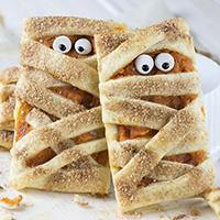 Mummy Pumpkin Cookies