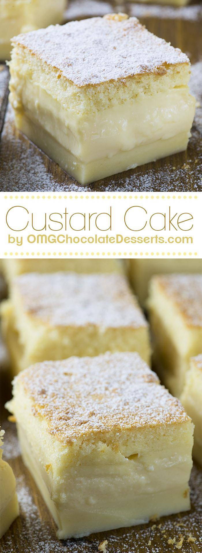 Vanilla Magic Custard Cake Omg Chocolate Desserts