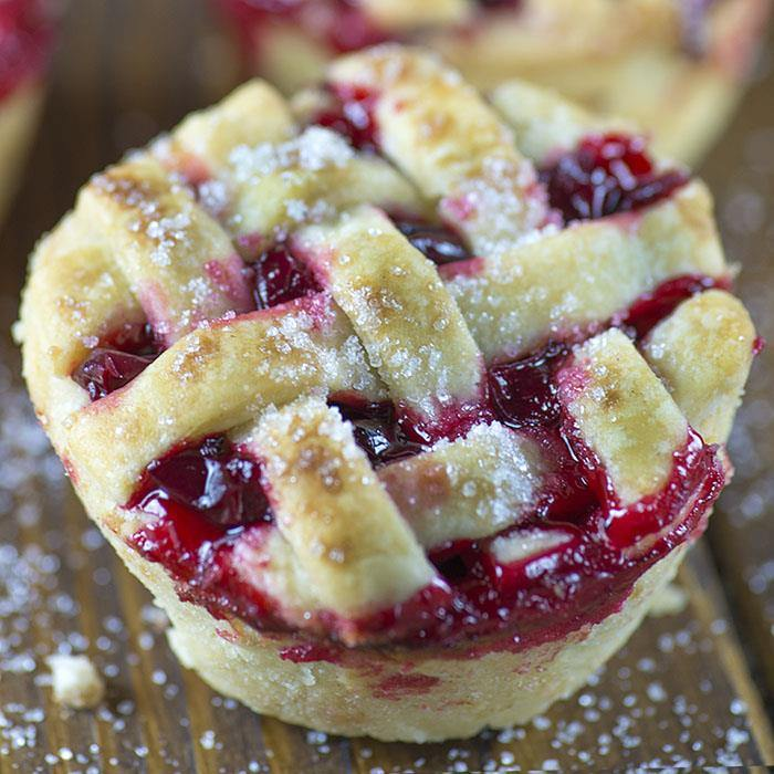 Mini Cherry Pies - a fun way to make a mini version of your favorite ...