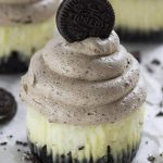 Image of chocolate mousse mini Oreo cheesecakes