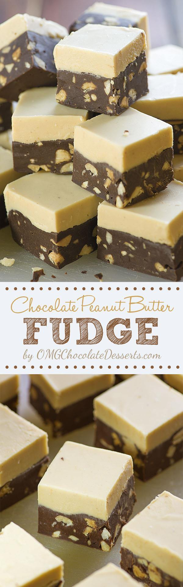 Chocolate Peanut Butter Fudge – can you stay indifferent to these delicious layers of peanut butter and chocolate? If not, you will need just 10 minutes of kitchen work and after that, the enjoyment really begins!!!
